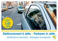 Stationnement à Jette - Nouveautés 2018