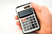 Photo d'une calculatrice
