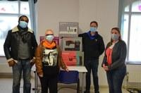 Workshops maskers naaien in het Centre Armillaire